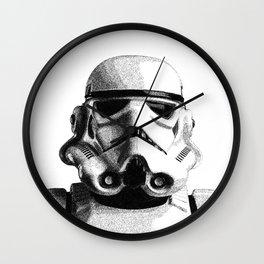 Stormtrooper Hand Drawn Dotwork - StarWars Pointillism Artwork Wall Clock
