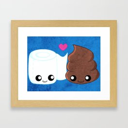 The Best of Friends - Toilet Paper and Poop Framed Art Print