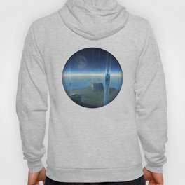 space elevator - babylon transfer station  Hoody