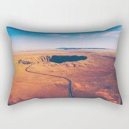 Crater vulcano Rectangular Pillow