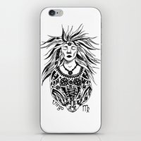 virgo iPhone & iPod Skins featuring Virgo by Anna Shell