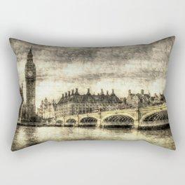 Westminster Bridge Vintage Rectangular Pillow
