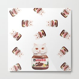 Nutella cats Metal Print