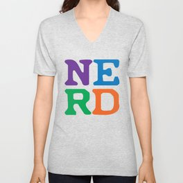Color Block Unisex V-Neck