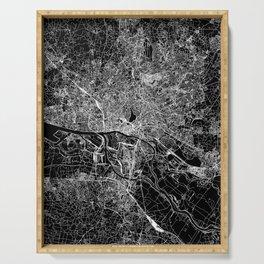Hamburg Black Map Serving Tray
