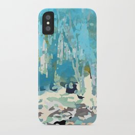 abstract forest in pastels iPhone Case