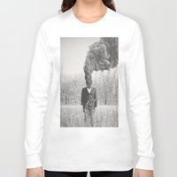 anxiety Long Sleeve T-shirts featuring Anxiety by Alex Gregory Mears