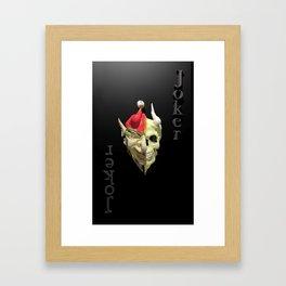 joker card Framed Art Print