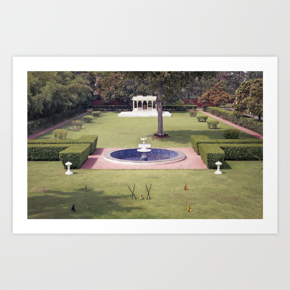 Croquet At The Palace Art Print by Signahelen PRN8535238