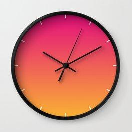 Ombre | Color Gradients | Gradient | Two Tone | Pink | Orange | Wall Clock