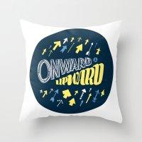 onward Throw Pillows featuring Onward by J. Zachary Keenan