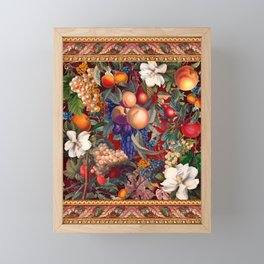 Vintage Fruit Pattern VII Framed Mini Art Print