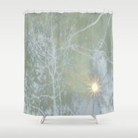 shining Shower Curtains featuring Shining Down by Dorothy Pinder