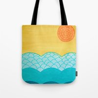 sunrise Tote Bags featuring Sunrise by sinonelineman