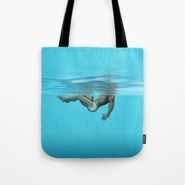 Swimming in the pool Tote Bag