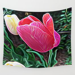 The Magenta Flower of Alchemy Wall Tapestry