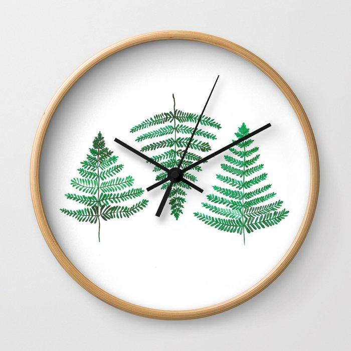 Fiordland Forest Ferns Wall Clock
