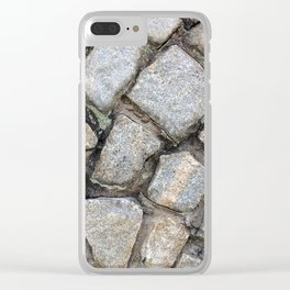Cobbled Stones Clear iPhone Case