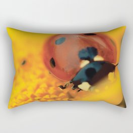 Ladybug, macro, still life, fine art, print, interior design, high quality photo, decor Rectangular Pillow
