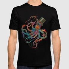 Mr Octopus MEDIUM Black Mens Fitted Tee