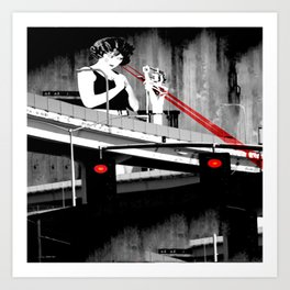 Stop the Freeway Overpass Scales Madness! Art Print