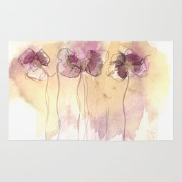 Fragrance - Abstract Flowers Watercolour Rug