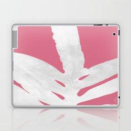 Green Fern on Pale Pink Bashful Inverted Laptop & iPad Skin