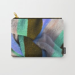 Multicolor Stripe Textile 2 Carry-All Pouch