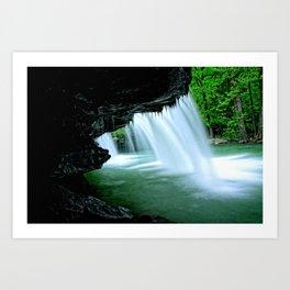 Behind The Falls  Art Print