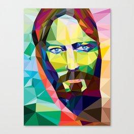 Low Poly Jesus Canvas Print