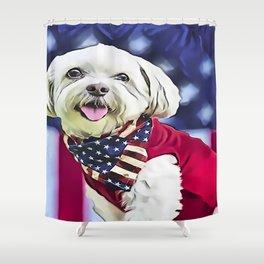 American Maltese Shower Curtain