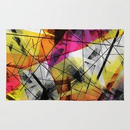 Discourse on Damage - Futuristic Geometric Abstract Art Rug