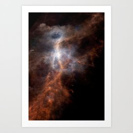Ionized Carbon Atoms in Orion Art Print