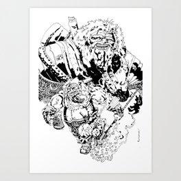 Balthazar Dwarven Party Machine Art Print