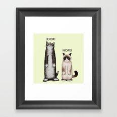 Look!-Nope Framed Art Print