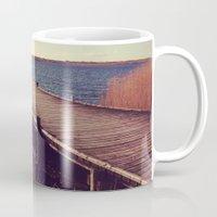 denmark Mugs featuring Denmark by Elisabeth Mochner