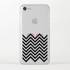Black Lodge Dreams (Twin Peaks) Clear iPhone Case