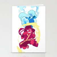 airbender Stationery Cards featuring Steven Universe x Avatar The Last Airbender by Matereya