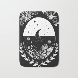 Moon River Marsh Illustration Invert Bath Mat