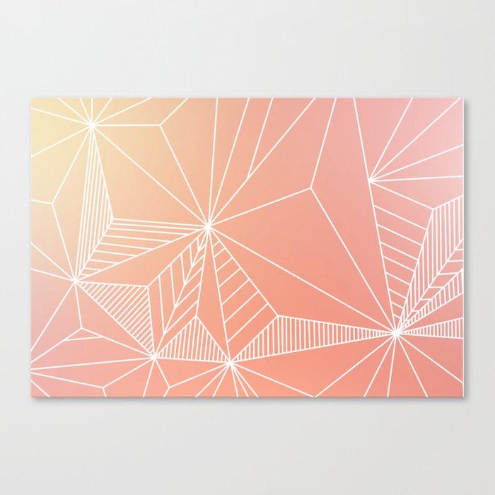 Paradise Geo Blush Canvas Print