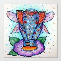 baby elephant Canvas Prints featuring Baby elephant  by oxana zaika