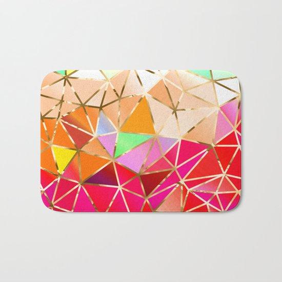 Rainbow Geometric Pattern #7 Bath Mat