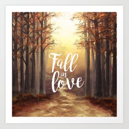 Fall in love of Autumn Art Print