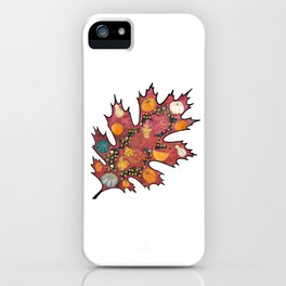 Abstract autumn leaf iPhone Case