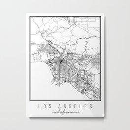 Los Angeles California Street Map Metal Print