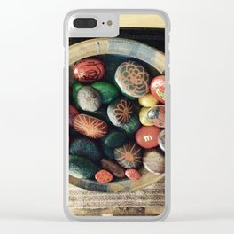 Rock art in ceramic bowl Clear iPhone Case