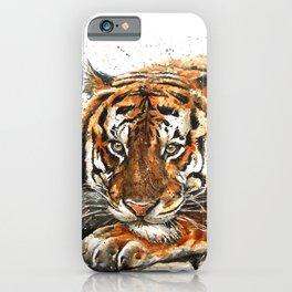 Tiger watercolor iPhone Case