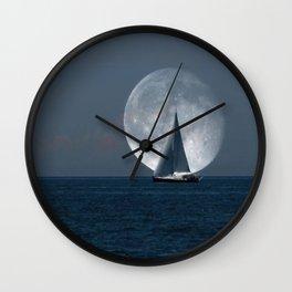 Full Moon Sailing Wall Clock