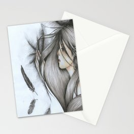 words i can't tell you Stationery Cards
