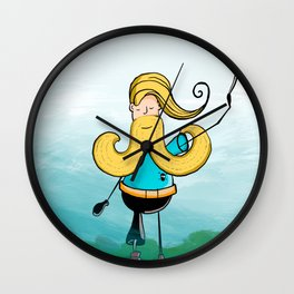 Pirata Barba amarilla Wall Clock